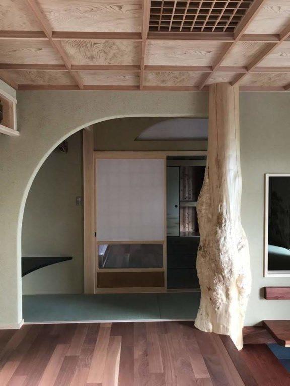 杉自然木、ブビンガ板