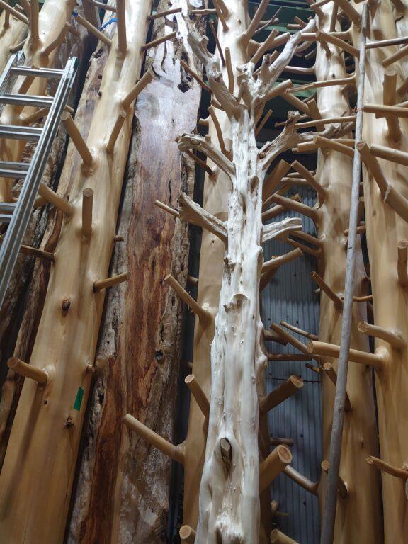 枝付き丸太、杉タイコ